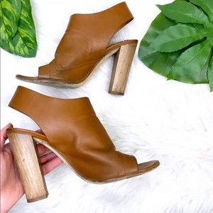 Vince leather open toe heeled sandals